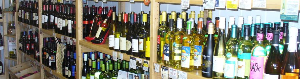 Inside Liquor Store